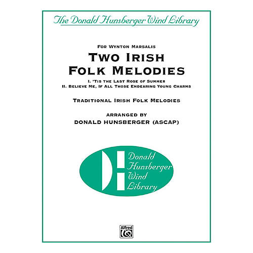 Alfred Two Irish Folk Melodies Concert Band Grade 4 Set