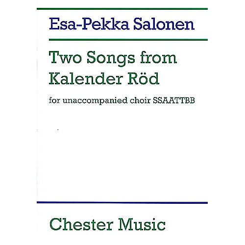 Chester Music Two Songs from Kalender Rod SSAATTBB
