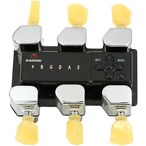Tronical Tuning Systems Type G Self Tuner for Yamaha Guitars Vintage White Marbled Tulip Button