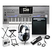 Tyros5-61 with Keyboard Amplifier, Headphones, Bench, Stand, and Sustain Pedal