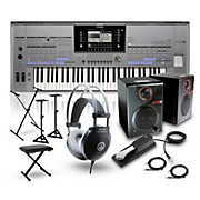 Yamaha Tyros5-61 with RPM3 Monitors, Headphones, Bench, Stand, and Sustain Pedal