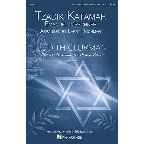 G. Schirmer Tzadik Katamar (Judith Clurman Choral Series) SATB arranged by Larry Hochman