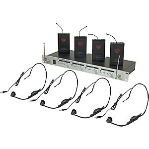 Nady U-41 Quad HM1 Headset Wireless System 14/16/10/12