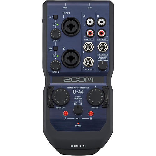 Zoom U-44 Handy Audio Interface-thumbnail