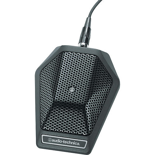 Audio-Technica U891R Cardioid Condenser Boundary Mic With Programmable Mute Switch Black