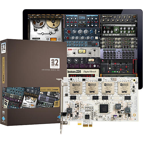Universal Audio UAD-2 QUAD Omni 6 DSP Accelerator Card w/ Omni Plug-In Bundle