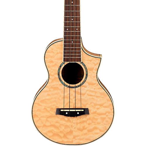 Ibanez UEW10QM EW Concert Ukulele - Quilted Maple Natural