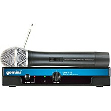 Gemini UHF-116M Single Channel Dynamic Microphone Wireless System