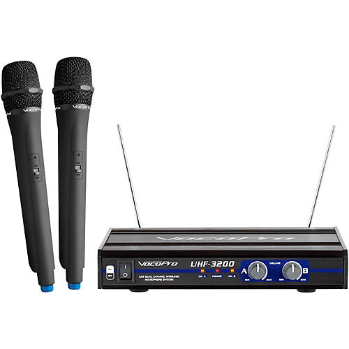 VocoPro UHF-3200-5 2 CHANNEL UHF WIRELESS HANDHELD MICROPHONE-thumbnail