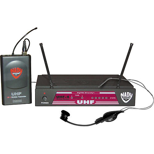 Nady UHF-4 LT/HM-1 (115) Headset Wireless System-thumbnail