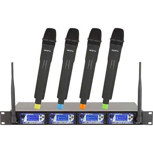 VocoPro UHF-5900 4 Microphone Wireless System with Frequency Scan Band 2