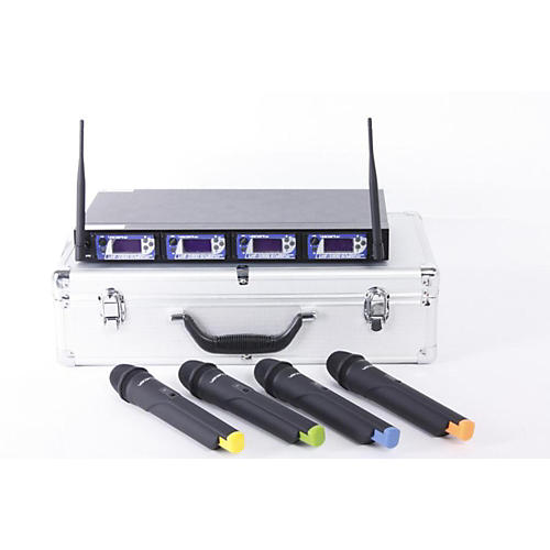 VocoPro UHF-5900 4 Microphone Wireless System with Frequency Scan-thumbnail