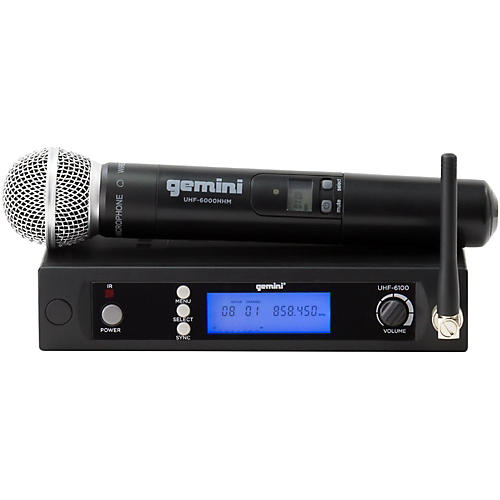 Gemini UHF-6100M Single Handheld Wireless System-thumbnail