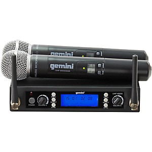 Gemini UHF-6200M Dual Handheld Wireless System by Gemini