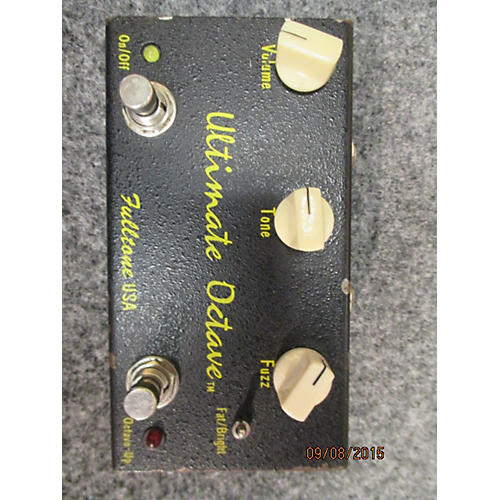 Fulltone ULTIMATE OCTIVE BLACK AND YELLOW Effect Pedal