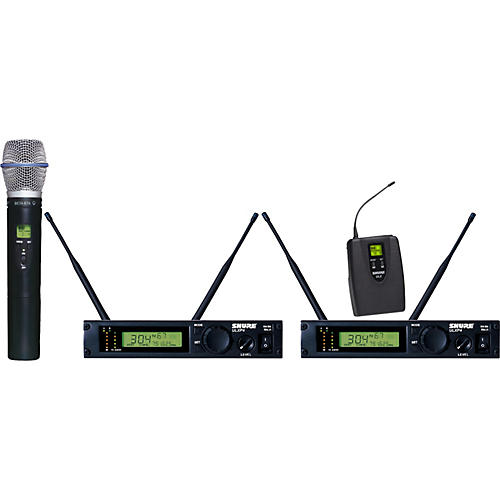 Shure ULXP124/BETA87A Dual Channel Mixed Wireless System M1