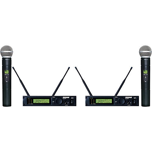 Shure ULXP24D/58 Dual Handheld Wireless Microphone System M1