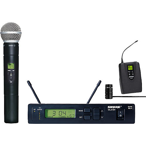 Shure ULXS124/85 Wireless Handheld/Lavalier Combo System