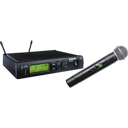 Shure ULXS24/BETA58 Handheld, Frequency-Selectable Wireless System