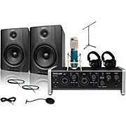 Tascam US-2x2 MXL 4000 and M Audio BX8 Recording Package 2