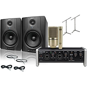 Tascam US-2x2 MXL 990/991 M-Audio BX5 Recording Package��