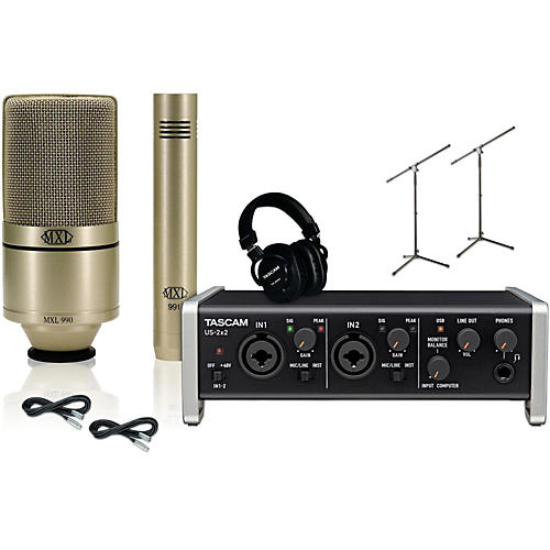 Tascam US-2x2 MXL 990/991 Package  -thumbnail