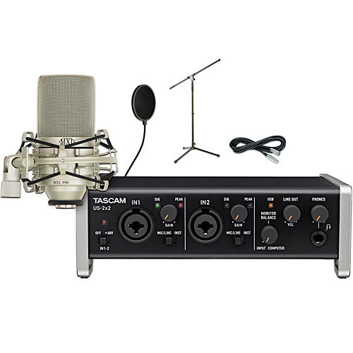 Tascam US-2x2 Pop Filter Package-thumbnail