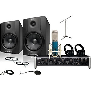 Tascam US-4x4 MXL 4000 and M Audio BX8 Recording Package 2