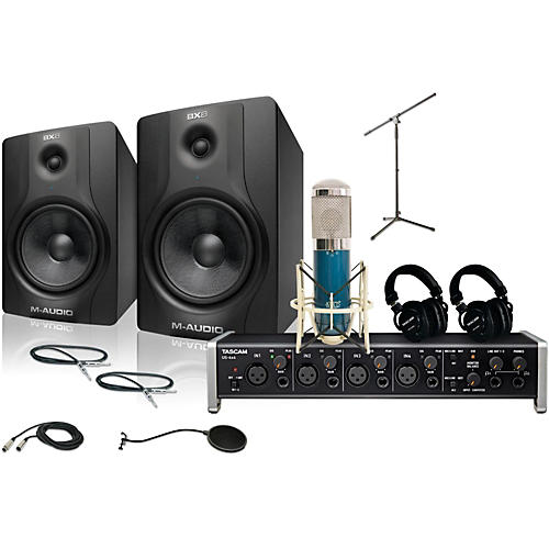 Tascam US-4x4 MXL 4000 and M Audio BX8 Recording Package 2-thumbnail