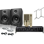 Tascam US-4x4 MXL 990/991 M-Audio BX5 Recording Package