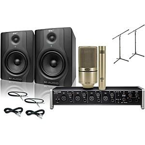 Tascam US-4x4 MXL 990/991 M-Audio BX5 Recording Package��