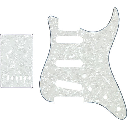 ProLine US Strat Pickguard SSS with Back Plate White Marine Pearl