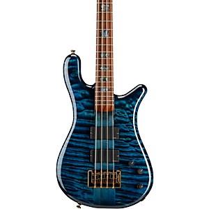 Spector USA NS-4 Black and Blue Gloss Bass Guitar