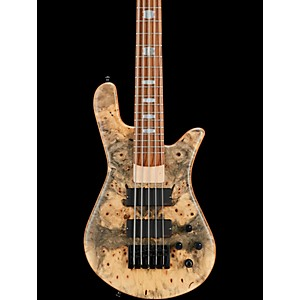 Spector USA NS-5H2-EX Buckeye Burl Top 5 String Bass Guitar