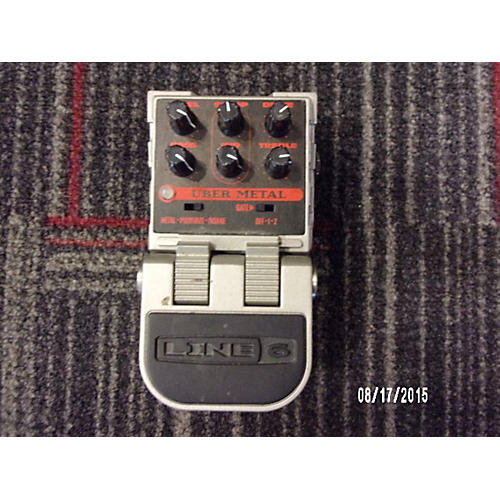 Line 6 Uber Metal Distortion Pedal Effect Pedal