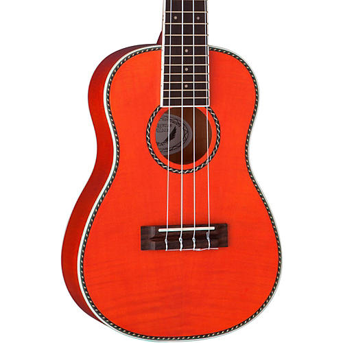 Dean Ukulele Concert Flame Maple Satin Transparent Amber