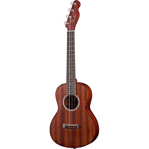 Fender Ukulele Pa ina All-Solid Mahogany Acoustic-Electric Tenor Ukulele