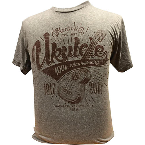 Martin Ukulele for Centennial Celebration - Gray T-Shirt-thumbnail