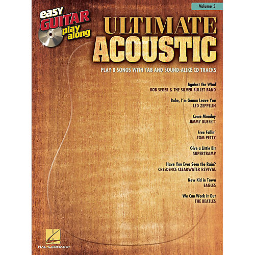 Hal Leonard Ultimate Acoustic Easy Guitar Play-Along Volume 5 Book/CD