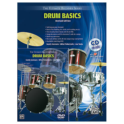 Alfred Ultimate Beginner Mega Pak Drum Basics (Revised Ed.) Book, CD & DVD