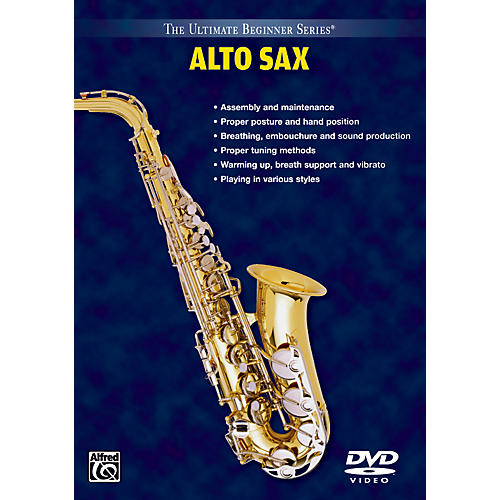 Alfred Ultimate Beginner Series: Alto Saxophone Volumes I & II DVD