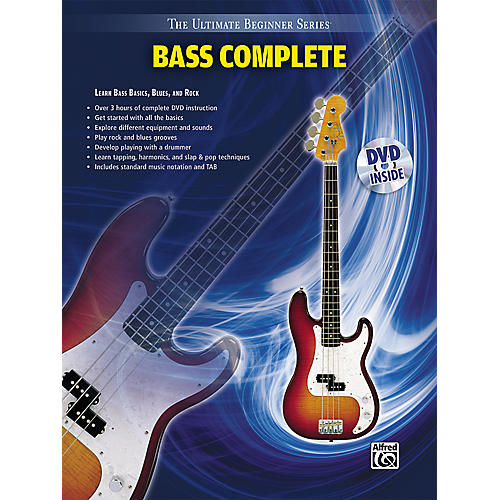 Alfred Ultimate Beginner Series Bass Complete Book & DVD-thumbnail