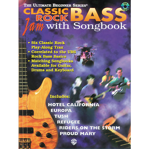 Alfred Ultimate Beginner Series Bass Songbook - Classic Rock (CD)-thumbnail