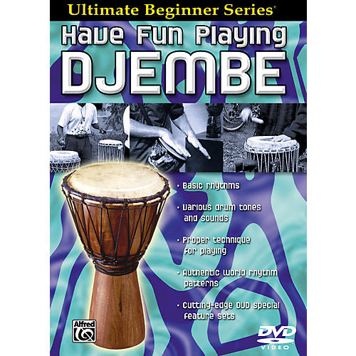 Alfred Ultimate Beginner Series Have Fun Playing Hand Drums Djembe DVD-thumbnail