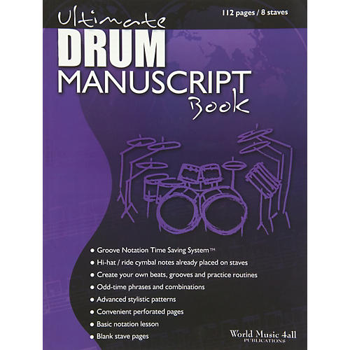 World Music 4all Ultimate Drum Manuscript Book-thumbnail