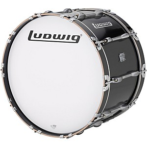 Ludwig Ultimate Marching Bass Drum - Black by Ludwig