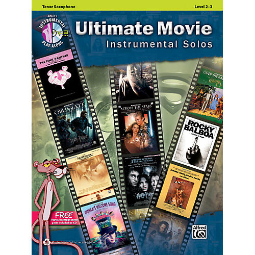Alfred Ultimate Movie Instrumental Solos for Tenor Sax Book & CD