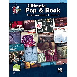 Alfred Ultimate Pop and Rock Instrumental Solos for Strings Violin Book and CD by Alfred