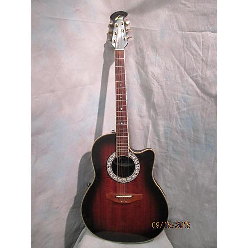 Ovation Ultra Deluxe Brown Burst Acoustic Electric Guitar-thumbnail