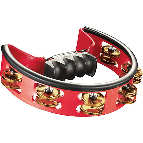 Pearl Ultra-Grip Brass Tambourine Red